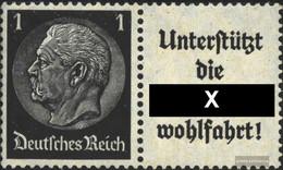 German Empire W91 Unmounted Mint / Never Hinged 1940 Hindenburg WZ 4 - Se-Tenant