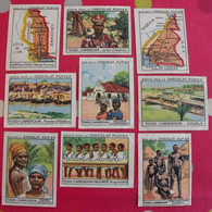 Lot 9 Images Chromo Chocolat Pupier. Album Afrique 1950. Togo Cameroun Roi Anécho Aklakou Yaoundé Douala Maroua - Altri