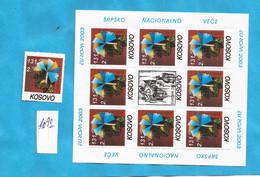 KOS-SRB 1  KOSOVO 2003 SERBISCHE TEIL  EUROPA CEPT  POS-7 !!!!ERROR -2002-  LUX   MNH - Kosovo