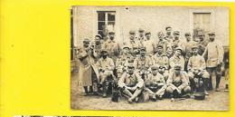 Carte Photo Lucien AUGUET Déols? Et Ses Compagnons WW1 - Guerre 1914-18