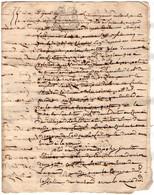 VP18.187 - Cachet De Généralité BORDEAUX - Acte De 1786 Concernant Le Seigneur De PAULIAC - Seals Of Generality
