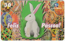 BRASIL N-510 Magnetic Telemar - Painting, Animal, Rabbit - Used - Brasile