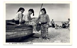 PORTUGAL - NAZARÉ  [ 0158 ] - UM GRUPO DE PESCADORES  PESCA FISHING Angeln Fischen PECHEUR - Leiria