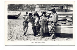 PORTUGAL - NAZARÉ  [ 0177 ] - IDILIO COSTUMES  PESCA FISHING Angeln Fischen PECHEUR - Leiria