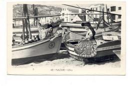 PORTUGAL - NAZARÉ  [ 0185 ] - IDILIO  PESCADOR E PEIXEIRA  COSTUMES  PESCA FISHING Angeln Fischen PECHEUR - Leiria