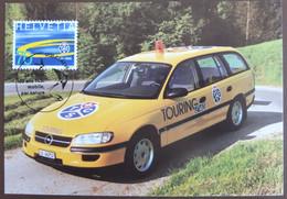 Carte Maximum 1996 Touring Club TCS Voiture Auto Opel Maxikarte Card Suisse Maxicard - Cartoline Maximum