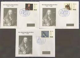 550.Geburtstag Albrecht Dürer , 3 Verschiedene Marken Individuell Mit Dürer Sonderstempeln Auf Brief 2021 - Unclassified