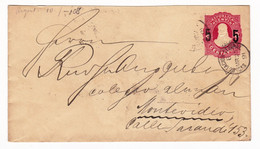 Lettre 1891 Entier Postal Argentine Argentina Buzonistas Capital Montevideo Uruguay - Postal Stationery