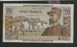 France > Saint Pierre Et Miquelon / 20 Vingt Francs Sans Date - Other