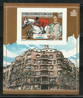 MADAGASCAR 1987 - OLYMPICS BARCELONA 92 - HIPICA Y LA PEDRERA - GAUDI - PICASSO - SIN DENTAR - IMPERFORATE - Picasso