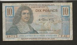 France > Saint Pierre Et Miquelon / 10 Dix Francs Sans Date - Other