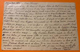 SUISSE - Canton De Berne - 1915-1918 - Internés En Suisse  - ZWEISIMMEN 1 Carte + 1 Lettre - Storia Postale