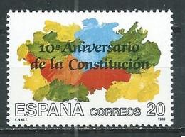 Espagne YT N°2596 Constitution Neuf ** - 1981-90 Nuovi