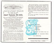 DP Ere Sergeant Fourier Brandweer - Adolf De Mol ° Lebbeke 1879 † Dendermonde 1957 X M. De Kegel / Meert Pieters - Santini