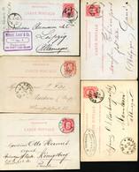 Belgique 5 Cartes Postales #15 Nimy Ohey Anvers Bruxelles Liège à Allemagne 1879-84 - Postcards [1871-09]