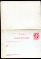 Belgique Carte Postale Avec Réponse #16 Neuf 1879 - Postcards [1871-09]