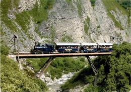 Fahrplanmässige Zugkomposition Auf Der Steffenbachbrücke 2. 8. 1992 (806) * 9. 8. 2000 - UR Uri