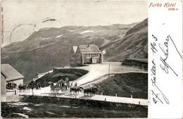 Furka-Hotel (2327) * 27. 7. 1903 - Pferdekutschen - UR Uri