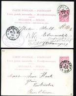 Belgique 2 Cartes Postales #21 I Bruxelles à Eberswalde + Euskirchen Allemagne 1890-92 - Cartoline [1871-09]