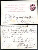 Belgique Carte Postale #21 I Bruxelles Imprimé à Chemnitz Allemagne 1892 - Cartoline [1871-09]