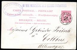 Belgique Carte Postale #21 I Bruxelles à Cottbus Allemagne 1889 - Cartoline [1871-09]