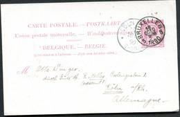 Belgique Carte Postale #21 I Bruxelles à Cologne Allemagne 1890 - Cartoline [1871-09]