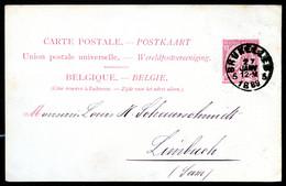 Belgique Carte Postale #21 I Bruxelles à Limbach Allemagne 1889 - Cartoline [1871-09]