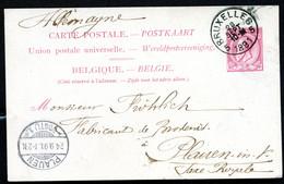 Belgique Carte Postale #21 I Bruxelles à Plauen Allemagne 1891 - Cartoline [1871-09]