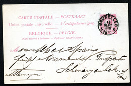 Belgique Carte Postale #21 I Bruxelles à Schwarzenbek Allemagne 1889 - Cartoline [1871-09]