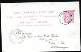 Belgique Carte Postale #21 I Bruges à Cologne Allemagne 1890 - Cartoline [1871-09]