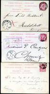Belgique 3 Cartes Postales #21 II Ostende Bruxelles à Allemagne 1892-94 - Cartoline [1871-09]