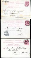 Belgique 3 Cartes Postales #21 II Verviers Bruxelles à Allemagne 1892-93 - Cartoline [1871-09]