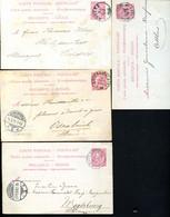Belgique 4 Cartes Postales #21 II Anvers Ruysbroeck Verviers à Allemagne 1893-96 - Cartoline [1871-09]