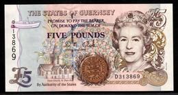 ♛ GUERNSEY - 5 Pounds Nd.(1996 - 2008) {sign. D.M. Clark} UNC P.56 C - Guernsey
