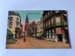 Carte Postale Ancienne Colorisée Mons La Rue De Nimy Timbrée - Mons