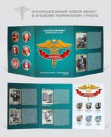 Russia, 2021  Medicine, COVID -19 , 6  X 1 Rubels Rubles Colored Coins In Almum - Russia