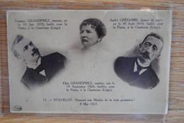5275/STAVELOT-Honneur Aux Martyrs-C.et Elise GRANDPREZ-A.GREGOIRE Fusillés Chartreuse LIEGE 8/5/17 - Stavelot