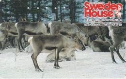 Télécarte JAPON / 110-164794 - SERIE SWEDEN HOUSE - ANIMAL - RENNE - REINDEER JAPAN Free Phonecard / Suède - 19 - Non Classificati