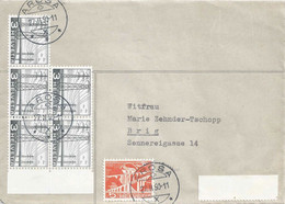 Brief  Arosa - Brig              1950 - Covers & Documents