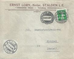 """Motiv Brief  """"Lory, Notar, Stalden (Emmenthal)"""" - Mirchel       1914 - Storia Postale"""