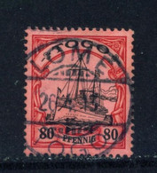 TOGO  -  1900 Yacht Definitive 80pf Used As Scan - Colonie: Togo