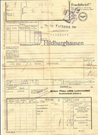 (C) GERMANY. 1957. RAIL FREIGHT DOCUMENT / FRACHTBRIEF. DEUTHSCHE - Unclassified