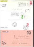 FRANCE '59 LANDRECIES' 1984/96  5 MARQUES POSTALES Et OBLITERATIONS - 1961-....