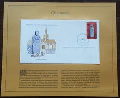 GUERNESEY - FDC 1977 - YT Nº144 - Monument Préhistorique, Menhir - Sur Document - Guernsey