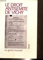 Le Genre Humain, N°30-31 : Le Droit Antisémite De Vichy - Olender Maurice & Collectif - 1996 - Guerra 1939-45