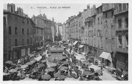 Mâcon Etoile 3 Sépia Foncé écrite Place Du Marché - Macon