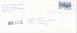 Bahamas Cover Sent Air Mail To Germany 2-2-2000 Single Franked - Bahamas (1973-...)