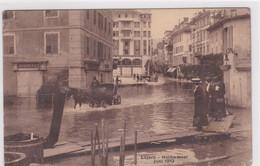 Luzern, Hochwasser 1910, Belebt, Pferdekutsche, Broideries. Fotokarte - LU Lucerne