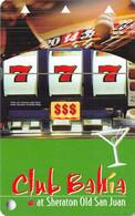 Club Bahia At Sheraton Old San Juan Puerto Rico BLANK Slot Card .....[FSC]..... - Casinokaarten