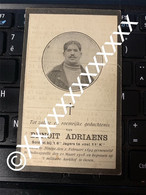 [F] Adriaens Benoit Soldaat Ninove 1894 19185 Oudecapelle Soldaat Oorlog WW1 Jagers Te Voet - Obituary Notices